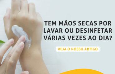 Mãos secas devido à higienização regular: Como prevenir?